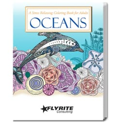 Stress Relieving Coloring Book For Adults - Oceans