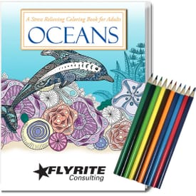 ON SALE-Adult Coloring Book Kit - Oceans