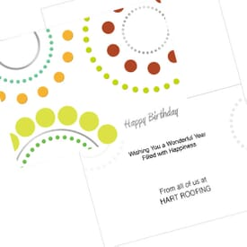 Birthday Dot Circles Card