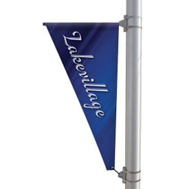 "24"" X 48"" Double-Sided Triangular Pole Banner"