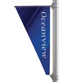"30"" X 60"" Double-Sided Triangular Pole Banner"