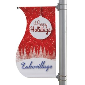 "24"" X 48"" Double-Sided S-Shaped Pole Banner"