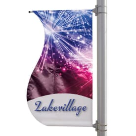 "30"" X 60"" Double-Sided S-Shaped Pole Banner"