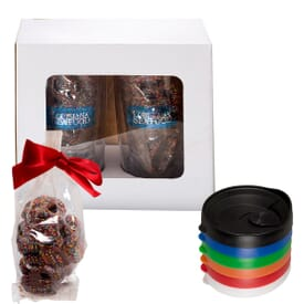 Sprint Tumbler Set With Chocolate Covered Pretzels