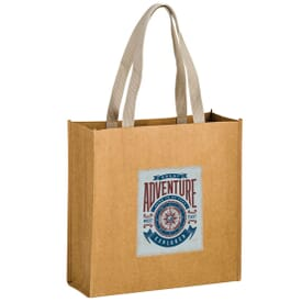 Full Color - Washable Kraft Paper Bag - 13 x 13 x 5