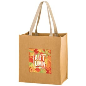 Full Color - Washable Kraft Paper Bag - 12 x 13 x 8