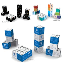 3D Shapes Triumph® Desk Calendar- Building Blocks