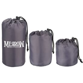 Set Of 3 Lightweight Drawstring Sacks