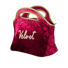 Velvet Clutch Lunch Bag
