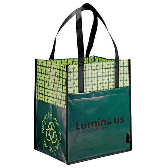 Laminated Grocery Tote Promotional Giveaway Crestline Com