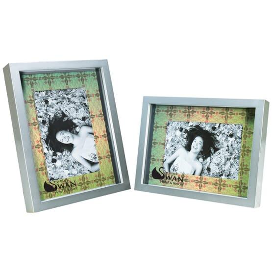 Custom Mat Silver Frame - 4\