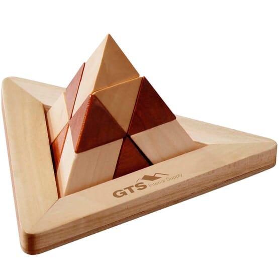 12 piece wooden triangle pyramid puzzle solution 2