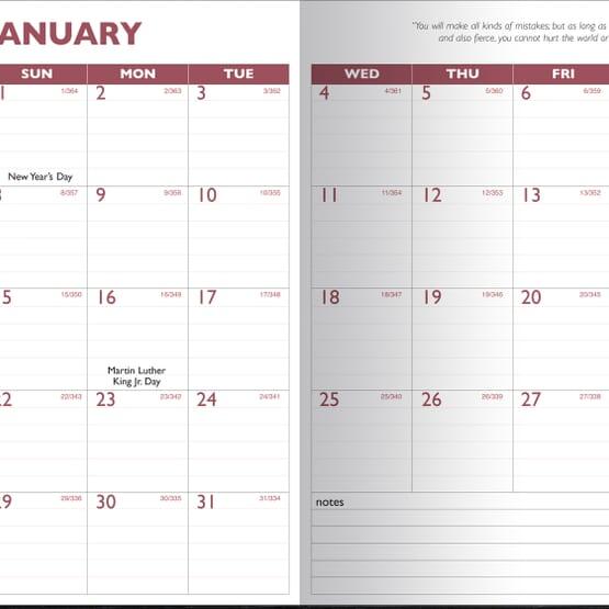 2019 13 Month Desk Planner Promotional Giveaway Crestline Com