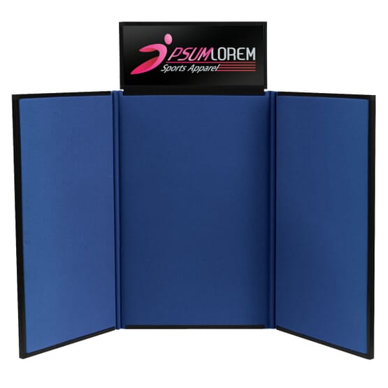 4 Tabletop Trifold Display Board With Header