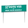 Double Sided Yard Sign-26in X 8in
